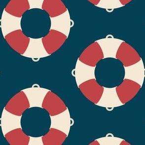 Nautical: Life preserver simple-dark blue