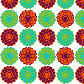 Bold Retro Flowers