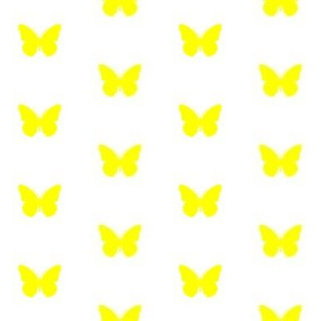 Lemon Lime Butterflies on White