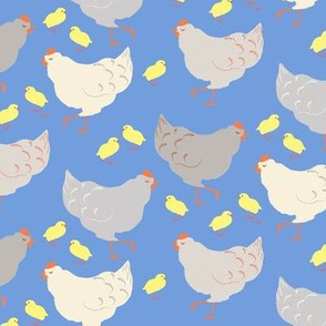Poulettes in blue