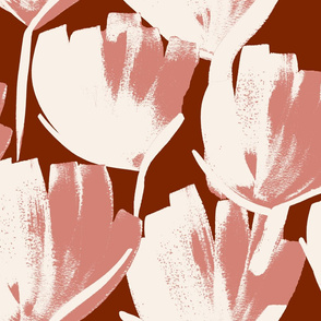 Jumbo flowers terracotta