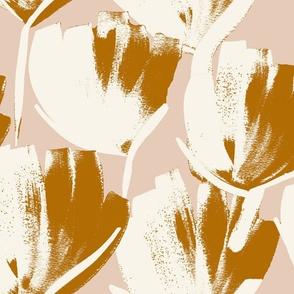 Jumbo flowers mustard