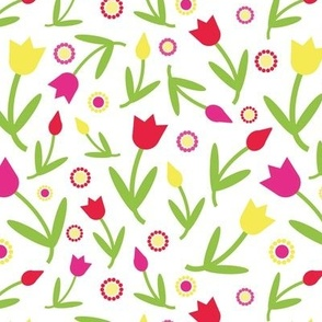 Colorful tulips pattern