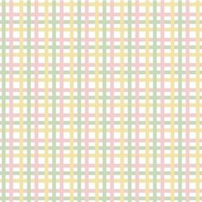 Pastel Color Gingham Tartan Seamless Pattern