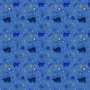 Ursa Major Ursa Minor Blue