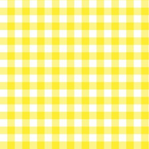 Bright Yellow Gingham