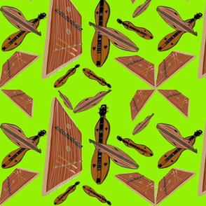 Dulcimers on Chartreuse by DulciArt, LLC