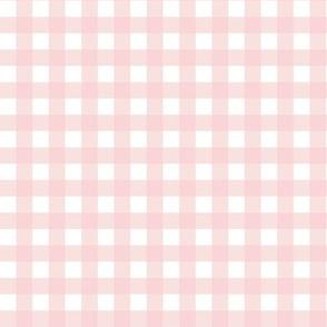 """9"""" Blush Pink Gingham"""