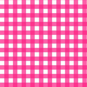 "9"" Bright Pink Gingham"