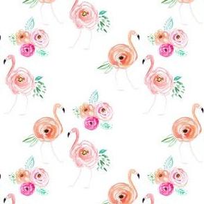 "4"" Floral Flamingo Florals"