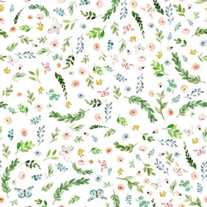 """12"""" Spring Time Baby Florals"""