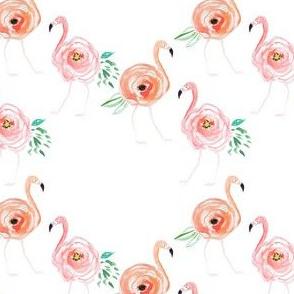 "4"" Floral Flamingos"