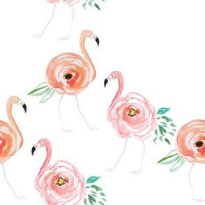 "8"" Floral Flamingos"