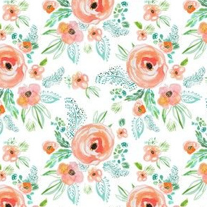 "4"" Modern Bohemian Peach with Extra Florals"
