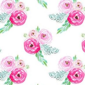 "4"" Modern Bohemian Pink Flowers"