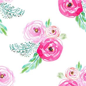 "21"" Modern Bohemian Pink Flowers"