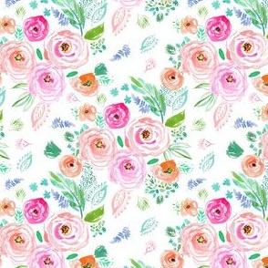 "4"" Modern Bohemian Boho Flowers"
