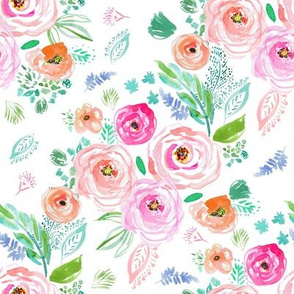 "8"" Modern Bohemian Boho Flowers"