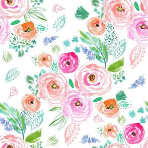 "21"" Modern Bohemian Boho Flowers"