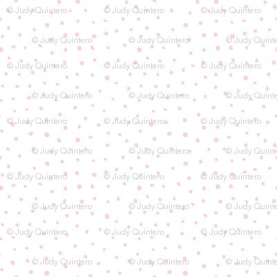 "8"" Modern Boho Polka Dots - Blush Pink"