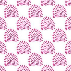 """4"""" Boho Sunrise - Bright Pink"""