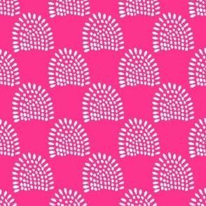 """4"""" Boho Sunrise - Bright Pink Back"""