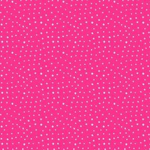 "4"" Modern Boho Polka Dots - Bright Pink Back"