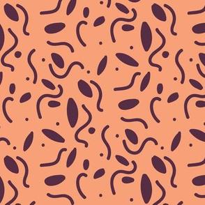 Abstract Caterpillars - Orange