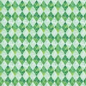 (small scale) Argyle watercolor - green C19BS