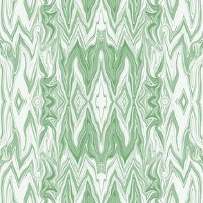 DGD6 -  XL -Rococo  Digital Dalliance Lace, with Hidden Gargoyles,  in Pastel Green