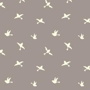 Little Birdies in taupe