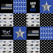 Police Patchwork (star badge) - Blessed are the peacemakers - thin blue line - back the blue wholecloth