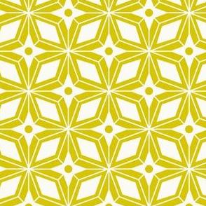 Starburst - Midcentury Modern Geometric Citron Yellow