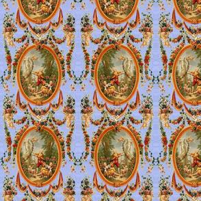 Rococo Swingers ~ King Louis Blue Moire ~ Medium