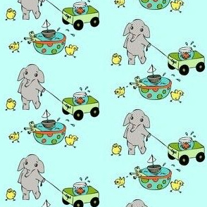 Elephants chicks and goldfish-ch