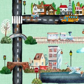 Trains Planes & Automobiles Playmat (full yard)