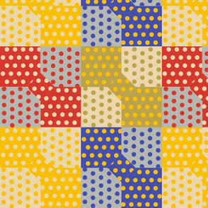 Polka Dot Bowtie Patch in Trendy 1920s Colors