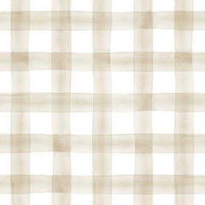 watercolor plaid || Khaki C19BS