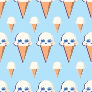 Vanilla Icecream Blue
