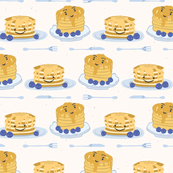 Happy Blueberry Pancakes