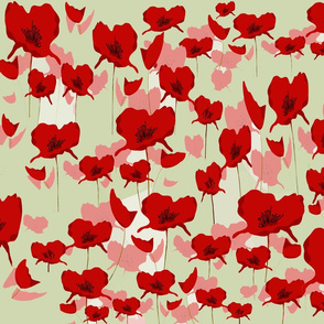 Australian Remembrance Poppies - Red Design Challenge