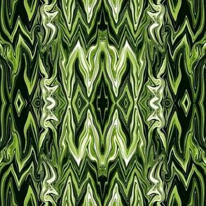 DGD10 - XL - Rococo Digital Dalliance, with Hidden Gargoyles,  in Green Tones