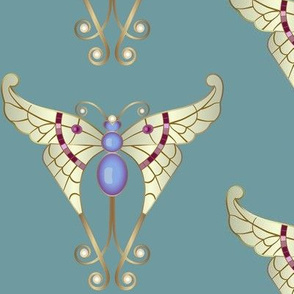 Bejeweled Butterfly: Aqua