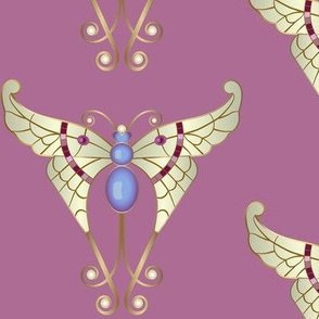 Bejeweled Butterfly: Rose Pink