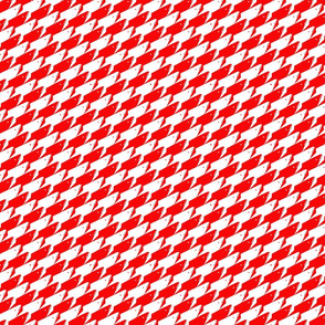 Baby Sharkstooth Sharks Pattern Repeat in White and Red