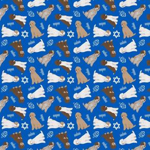Tiny Lagotto Romagnolo - Hanukkah