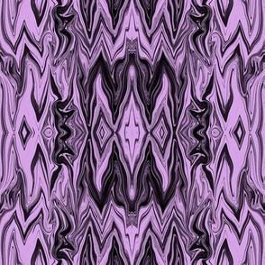 DGD16 - XL - Rococo Digital Dalliance with Hidden Gargoyles -  Black - Lavender
