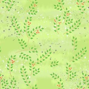 Spring light green leaves