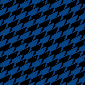 Sharkstooth Sharks Pattern Repeat in Black and Blue