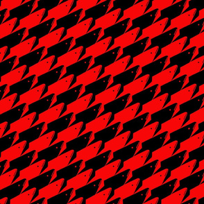 Sharkstooth Sharks Pattern Repeat in Black and Red